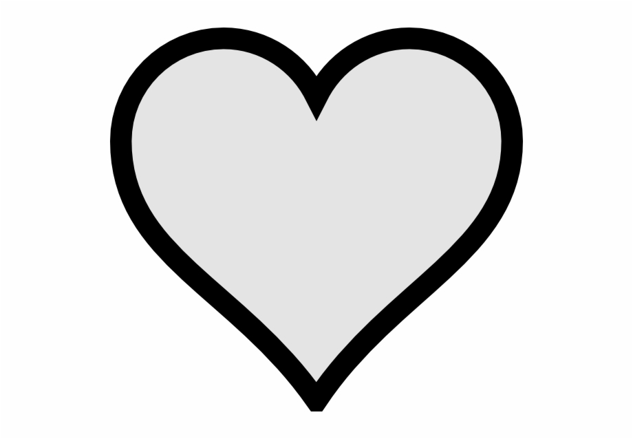 Black Heart Clipart No Background Letters.