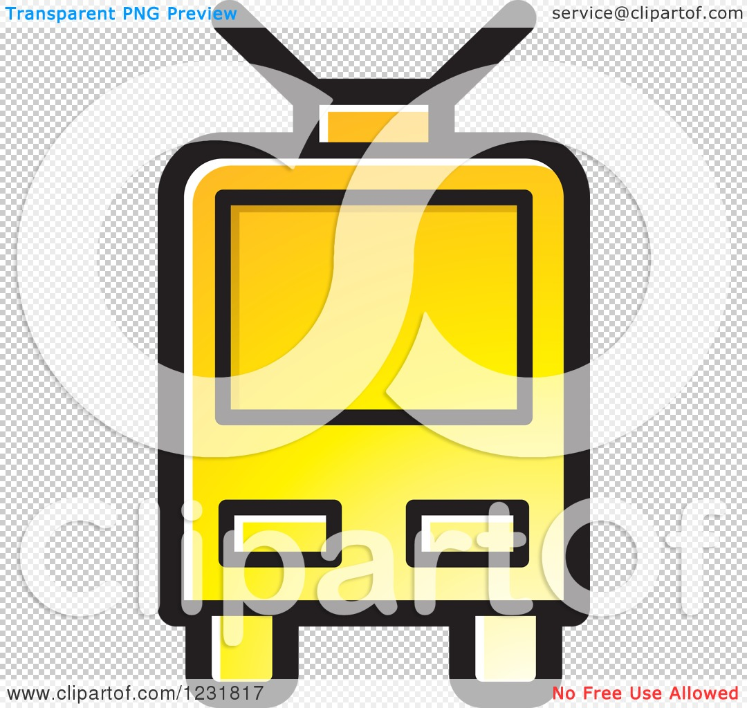 Clipart of a Yellow Cable Car Icon.
