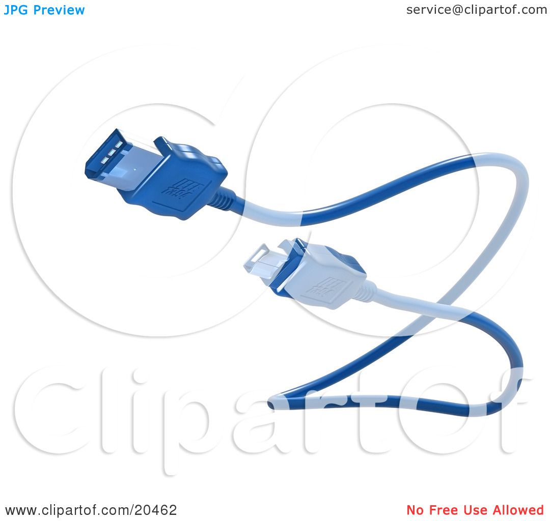 Clipart Illustration of a Blue Electronic, Computer Hardware.