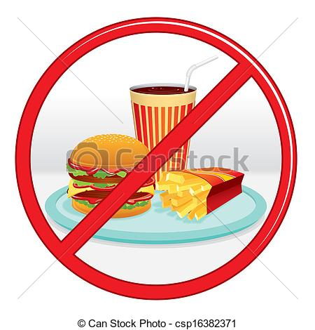 No Fast Food Clipart.