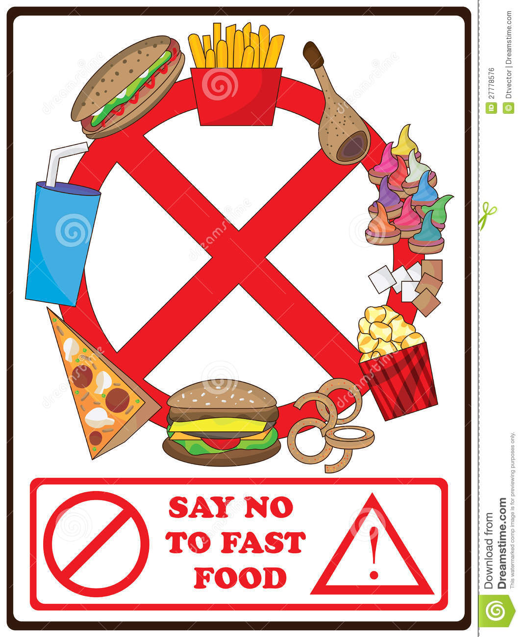 Clipart No Fast Food.