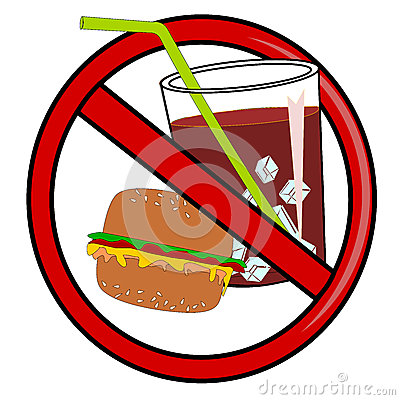 No Fast Food Royalty Free Stock Image.