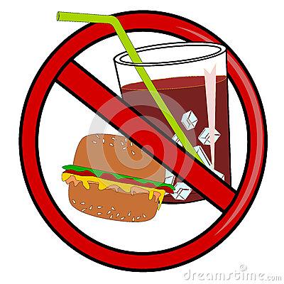 No Fast Food Royalty Free Stock Image.