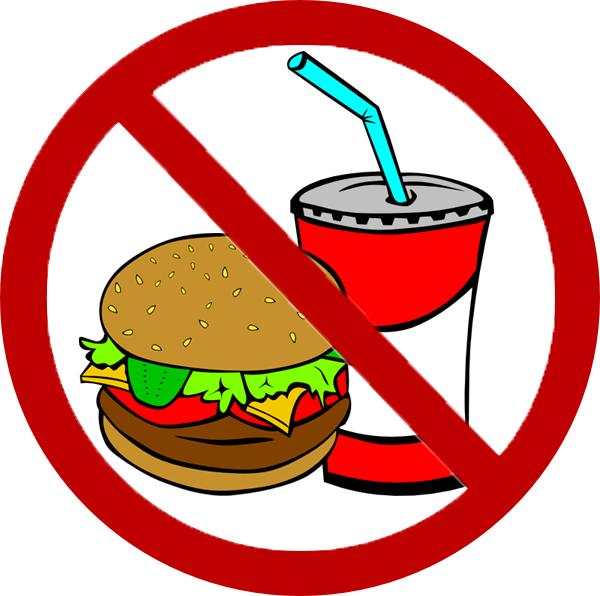 No Junk Food Clipart.