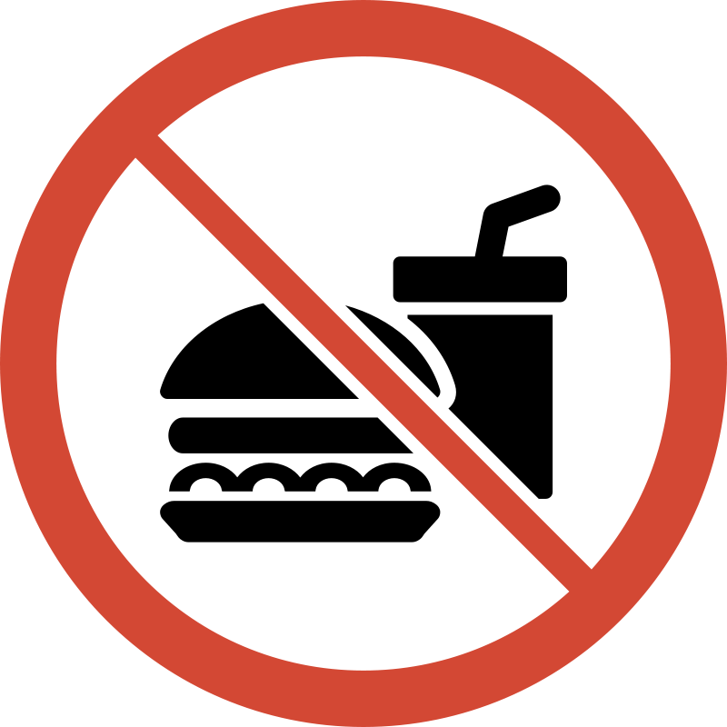 Free Clipart: No Food or Drink Sign.
