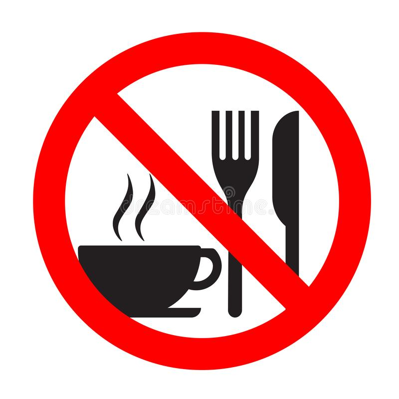 No Food Drink Allowed Stock Illustrations.