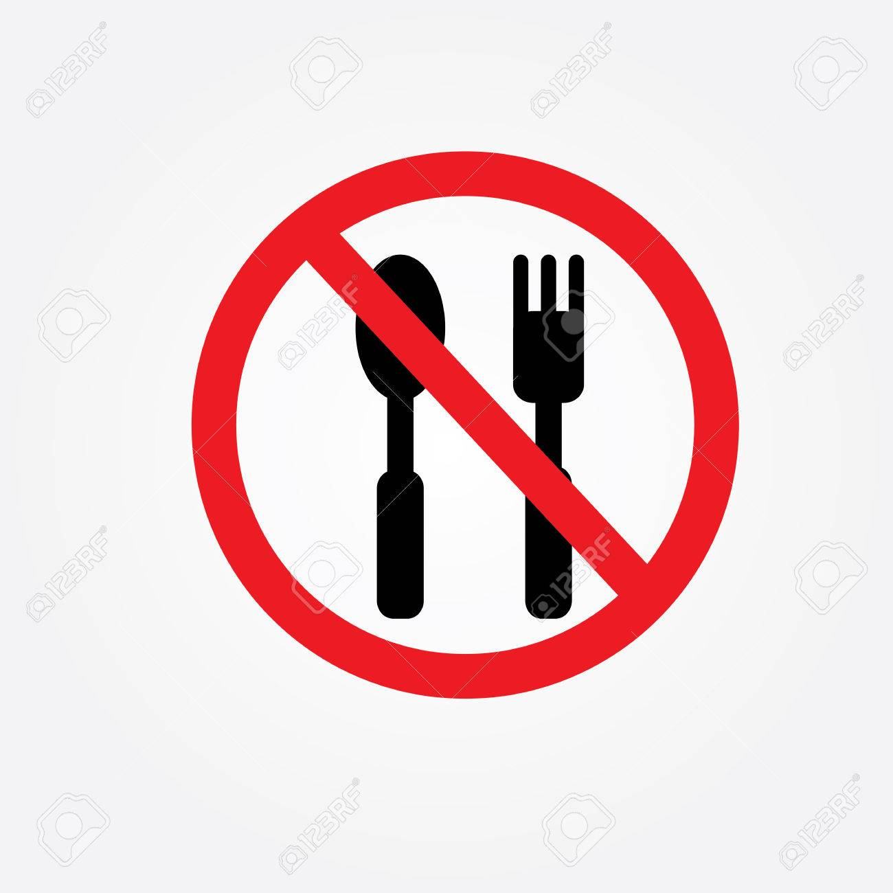 No eating vector sign,no food or drink allowed vector.