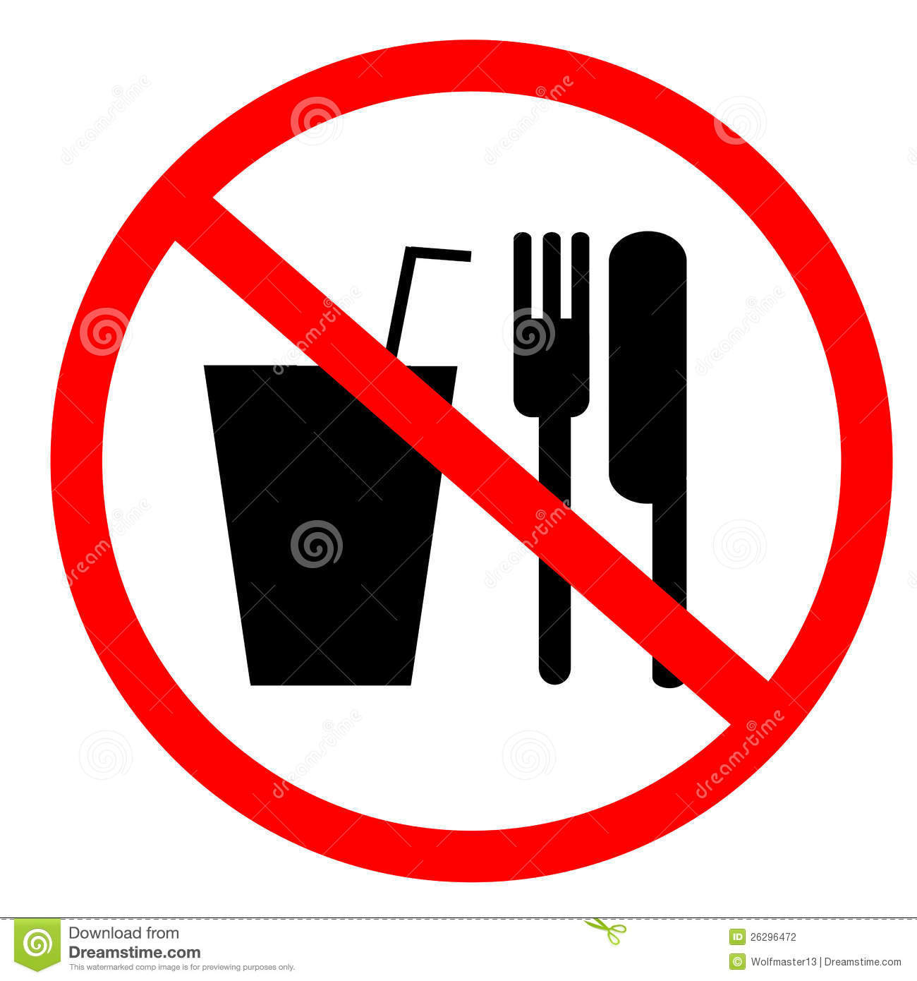 No Food Sign Clipart.