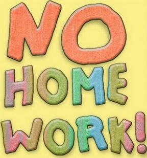 No Homework Tonight Clipart.