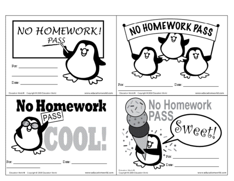 No Homework Clipart In Spanish.