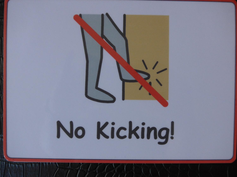 No Kicking Clipart.