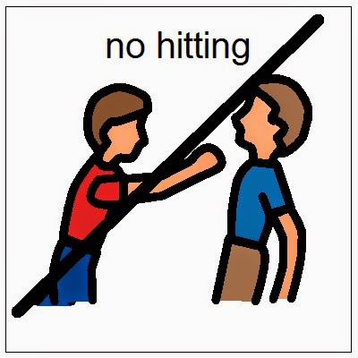 No Kicking Others Clipart.