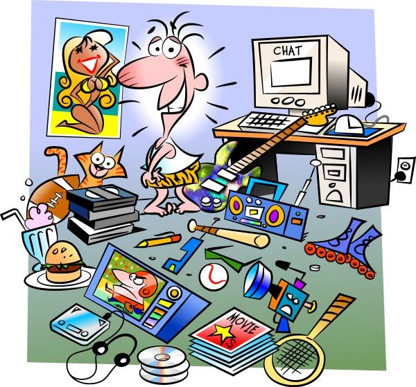 Messy Room Garbage: Clipart No Messy Bedroom