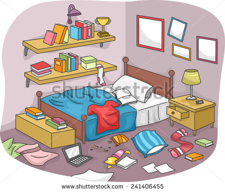 Messy Room Stock Images, Royalty.
