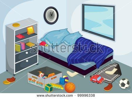 Cartoon Bedroom Stock Images, Royalty.