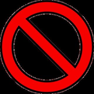Just Say No Symbol.