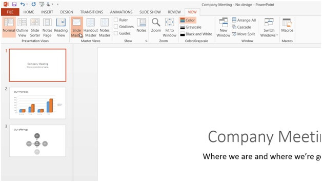 How to add your logo to all slides in PowerPoint 2013?.