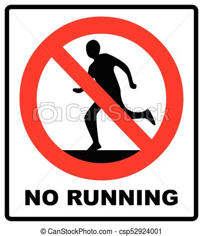 No Running Clipart (95+ images in Collection) Page 1.