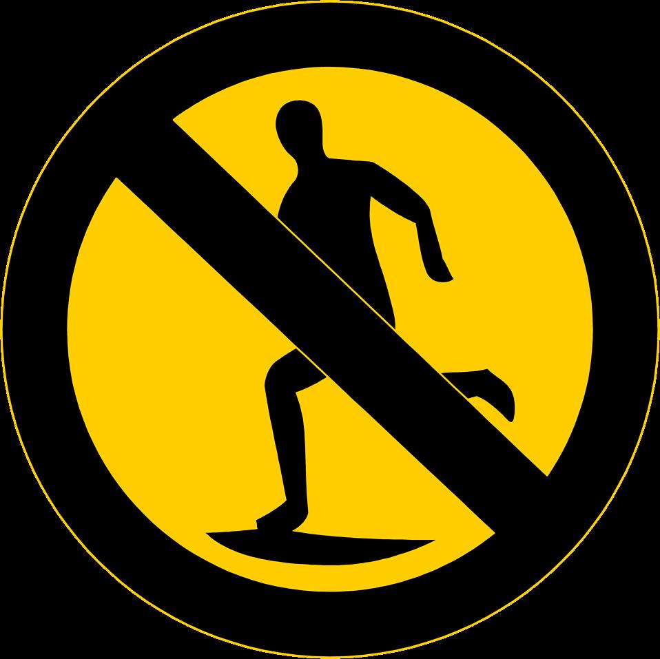 No Running Cliparts.
