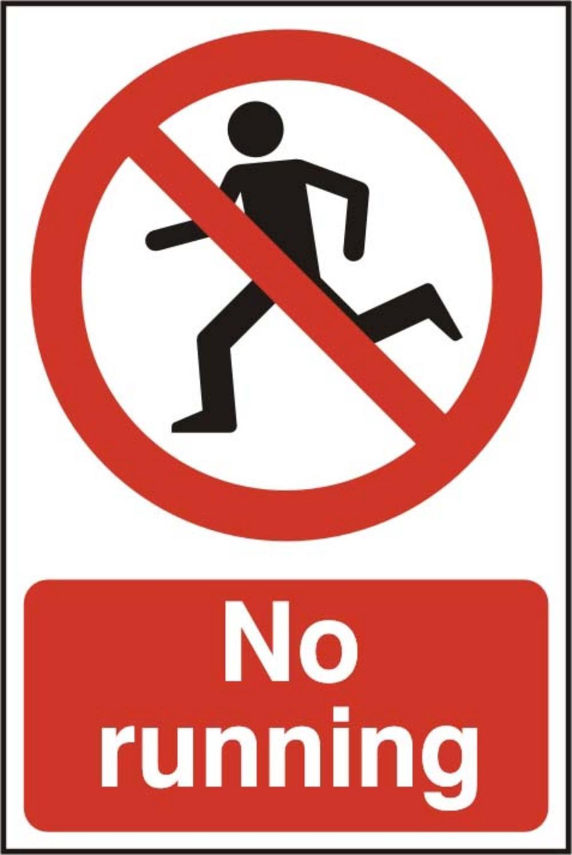 No Running Clipart.