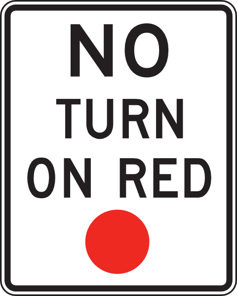 No Turn On Red Sign Clip Art at Clker.com.