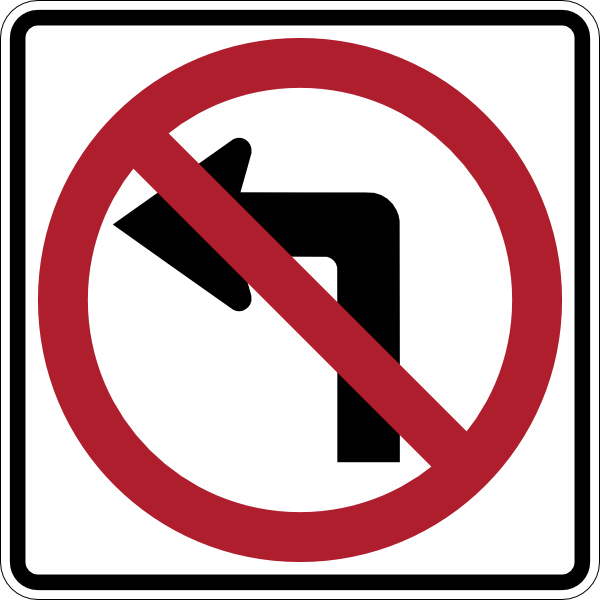 No Turn Taking Clipart.
