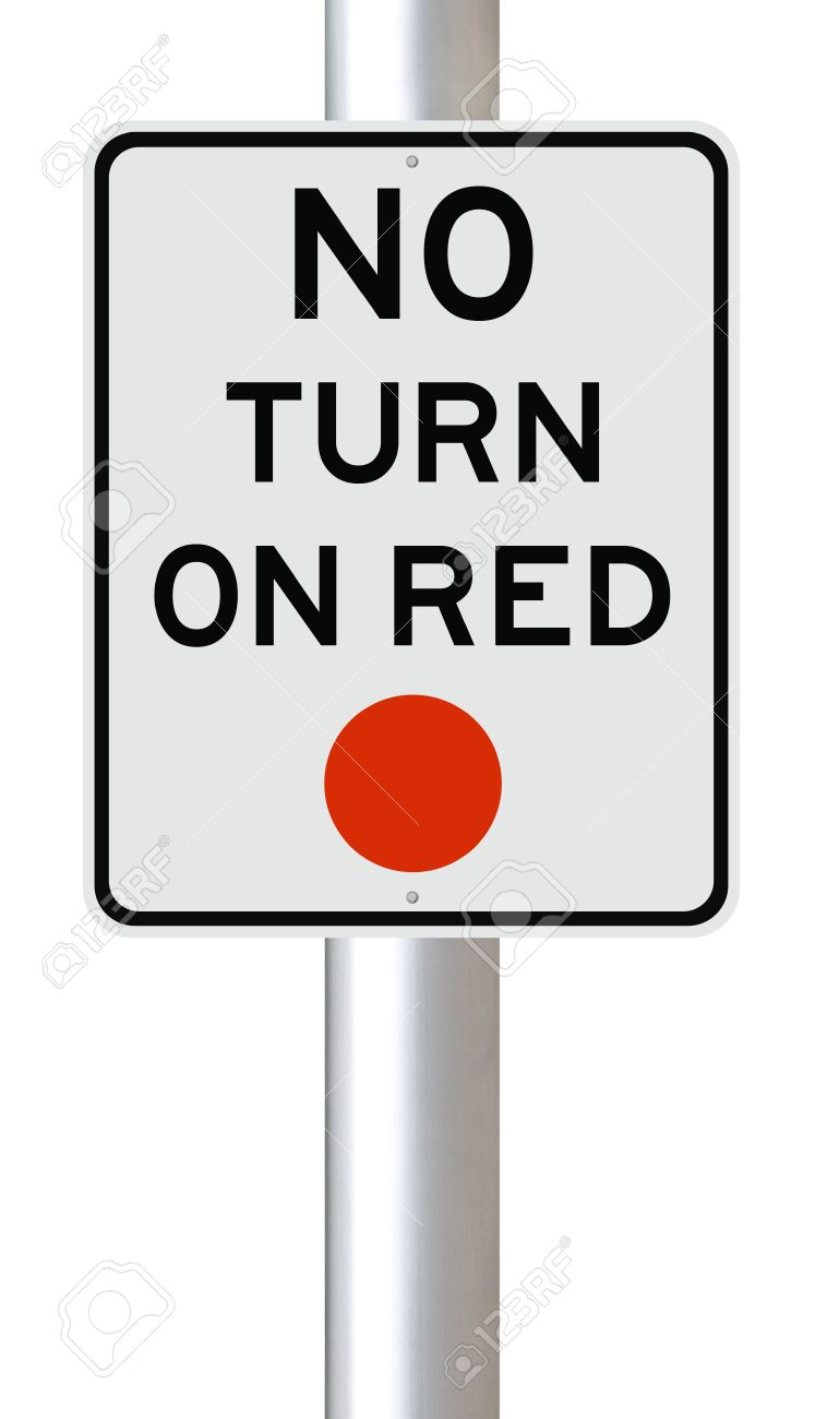A Traffic Sign Indicating No Turn On Red Stock Photo, Picture And.
