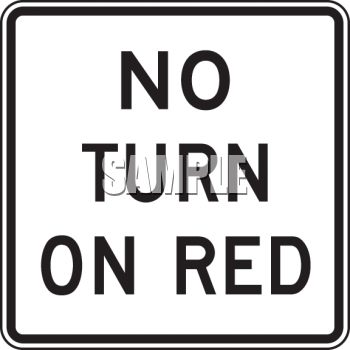 Clipart No Turn On Red Sign.