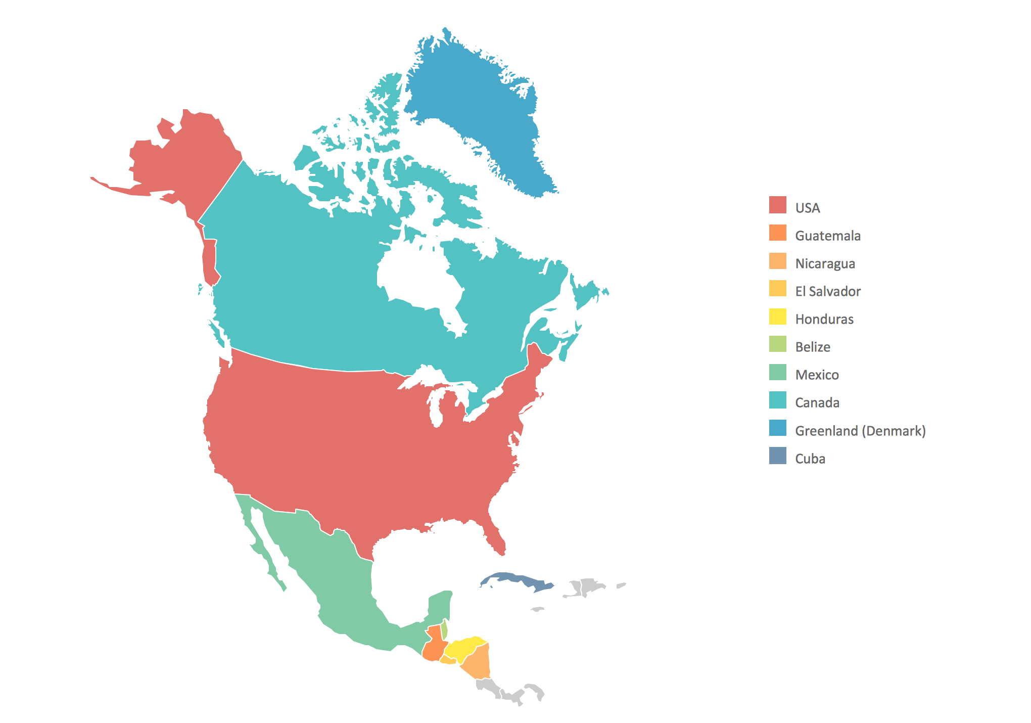 Free Clipart North America Map.