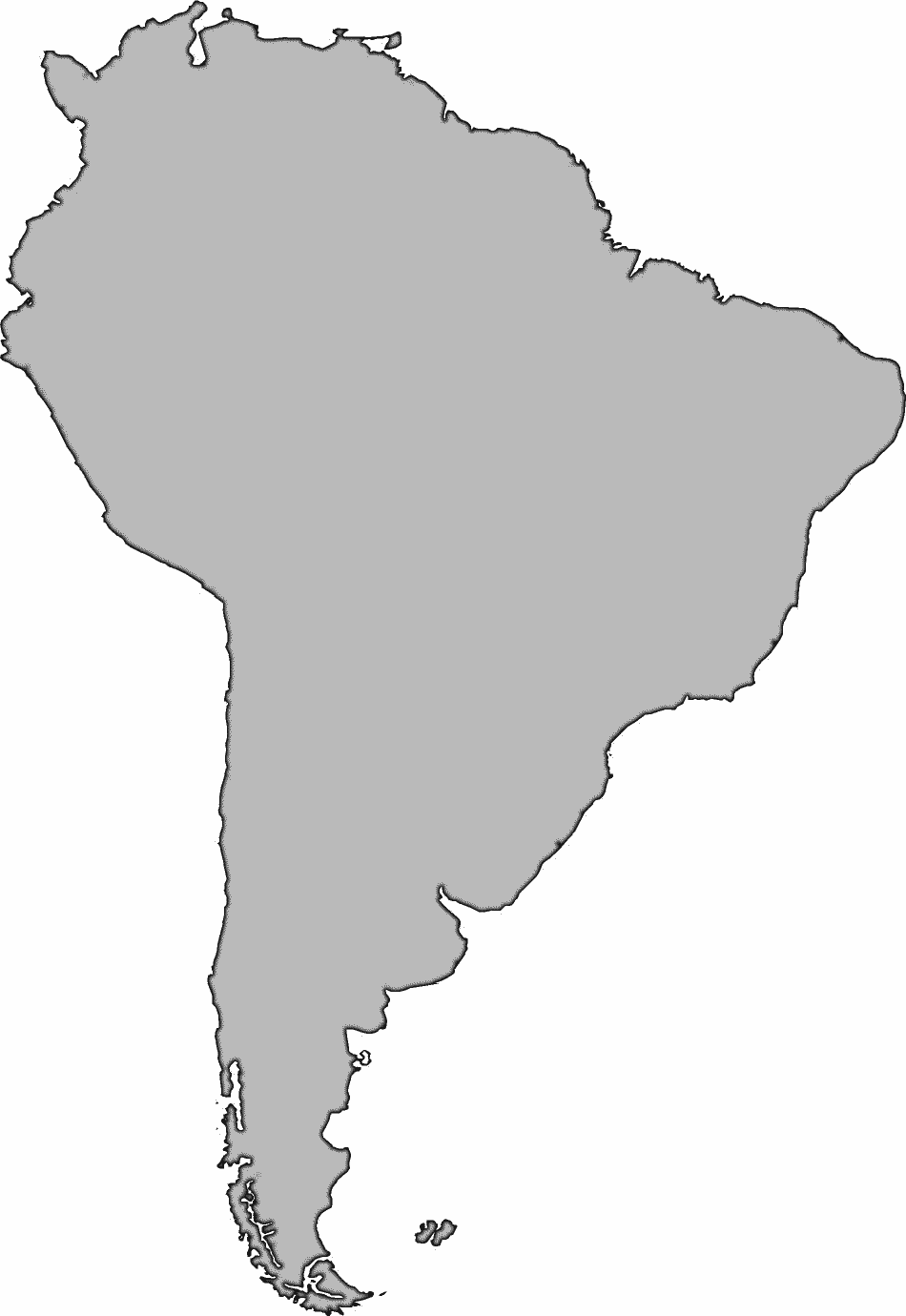 Clipart South America Map.