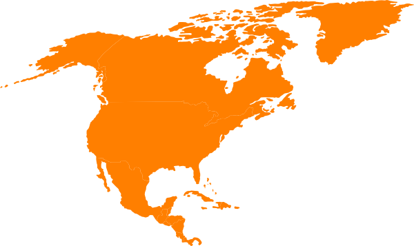 America Map Outline Vector.