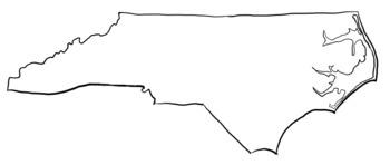 North Carolina Clipart State Outline.