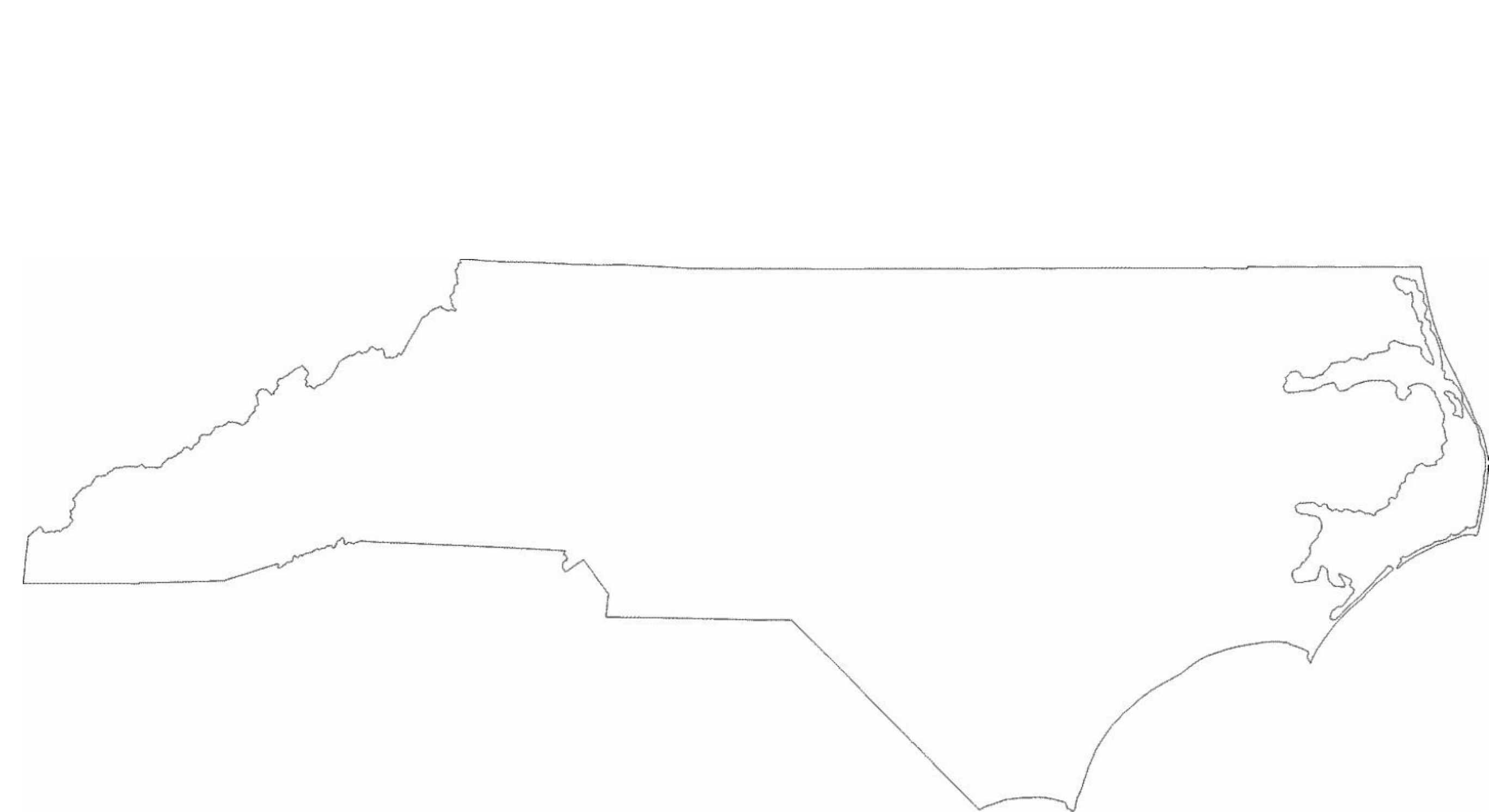 Outline Map Of North Carolina With North Clipart Drawn : Outline.