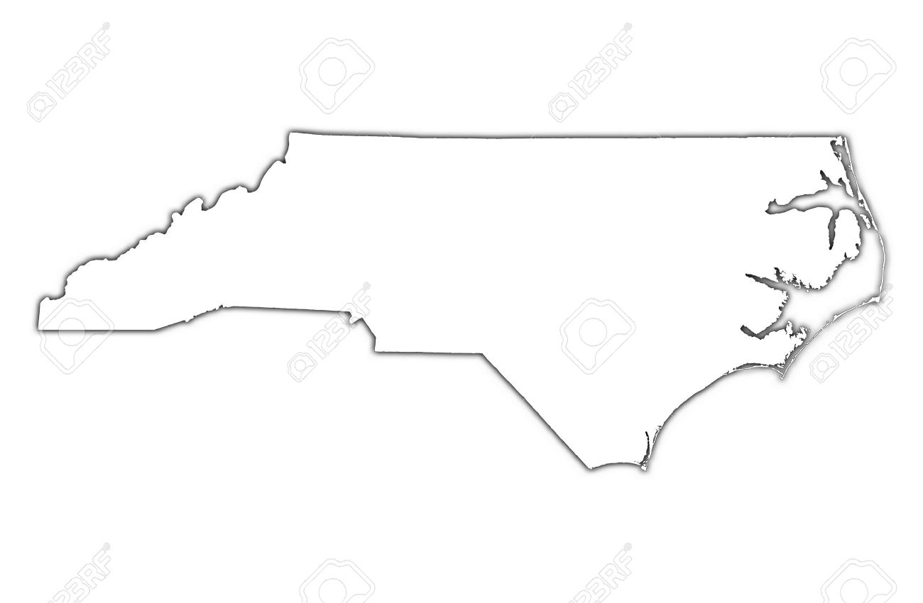 Outline Map Of Nc With North Carolina Outline Maps And Map Links.