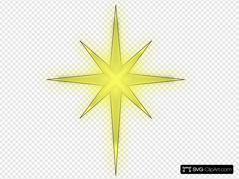 North Star Solid Black Clip art, Icon and SVG.