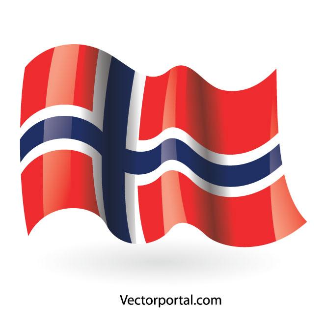 Norwegian flag vector clip art.