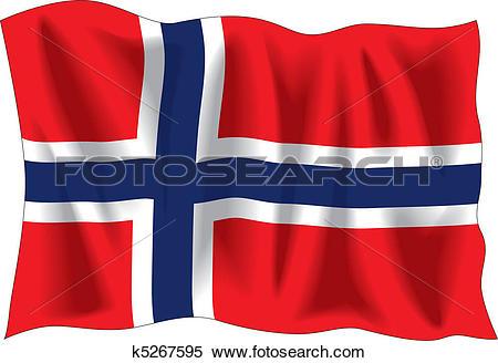 Norwegian flag Clip Art Illustrations. 599 norwegian flag clipart.