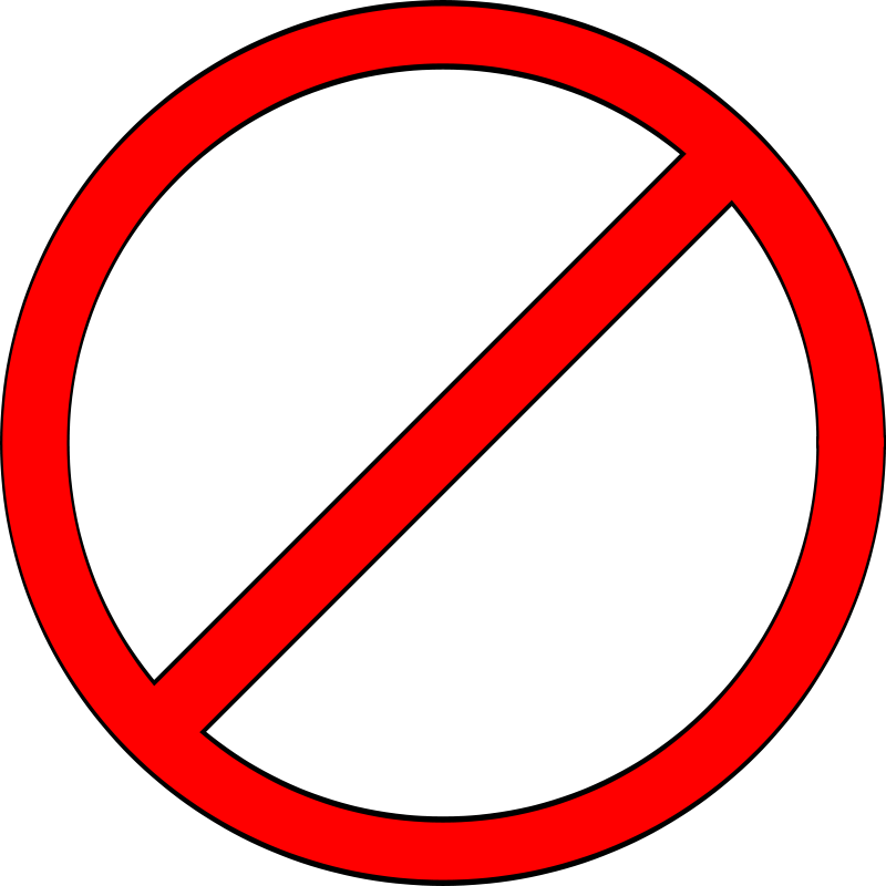 Free Clipart: Do Not.