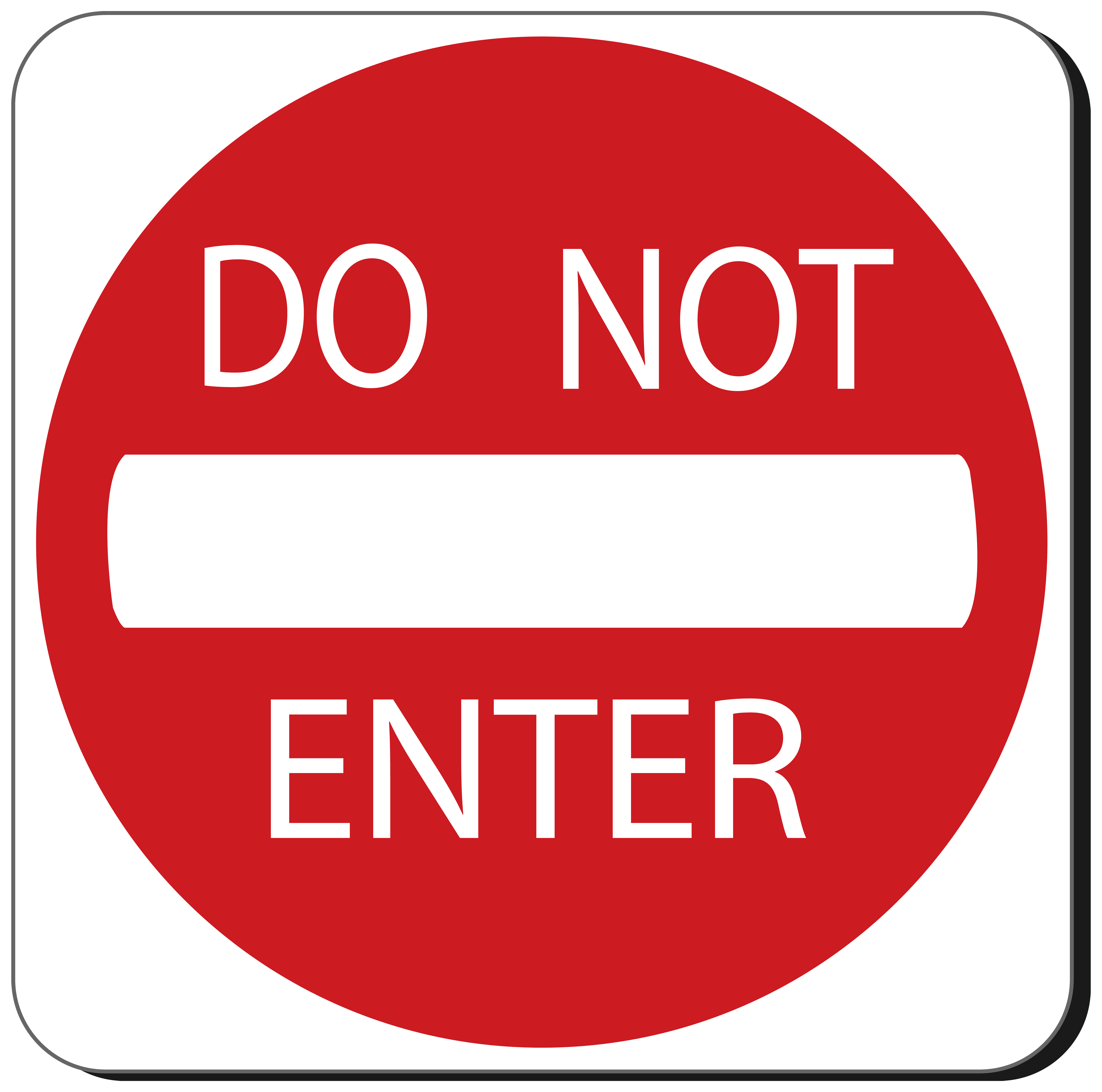 Do Not Enter Sign PNG Clipart.