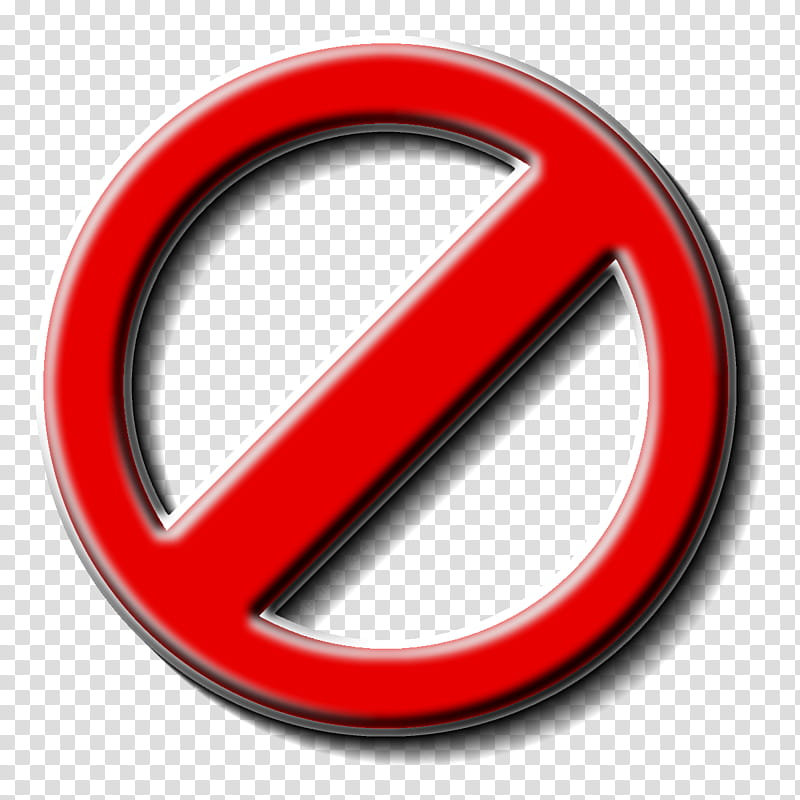 Not Allowed Icon, not allowed logo transparent background.
