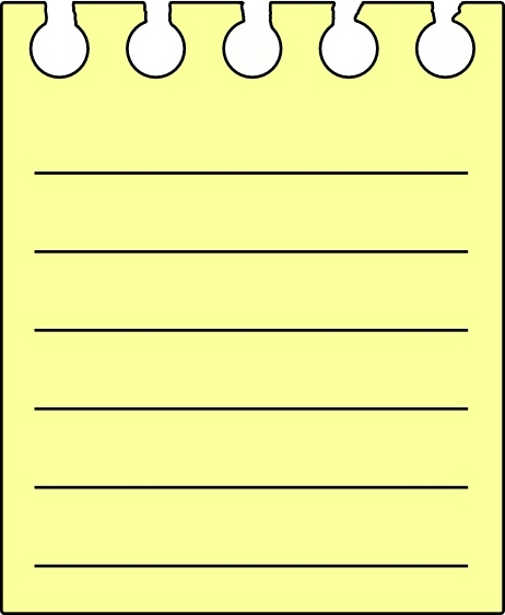 Note Pad clip art Free vector in Open office drawing svg.