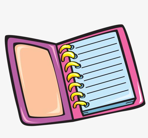 Cartoon Notebook, Cartoon Clipart, Notebook Clipart, Notebook PNG.