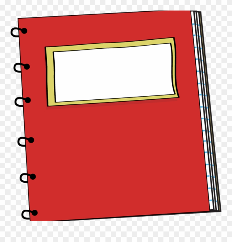 Spiral Notebook Clipart Spiral Notebook Clipart Red.