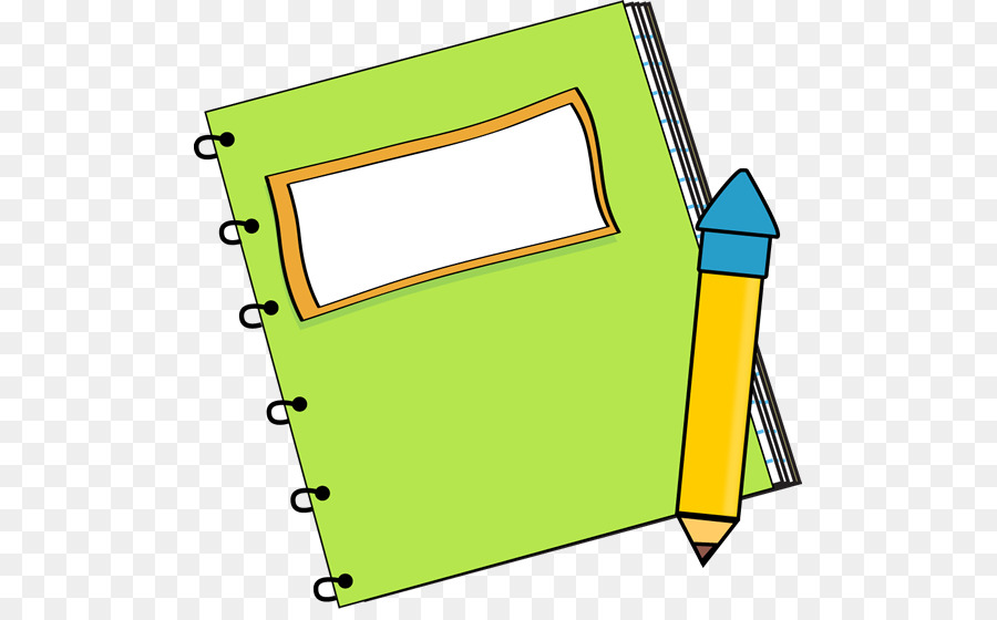 Paper Notebook Pencil Clip Art.