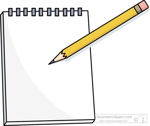 Pencil Clipart Notepad.