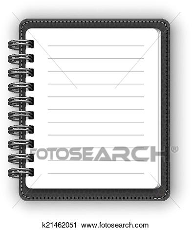 Leather spiral notebooks Clipart.