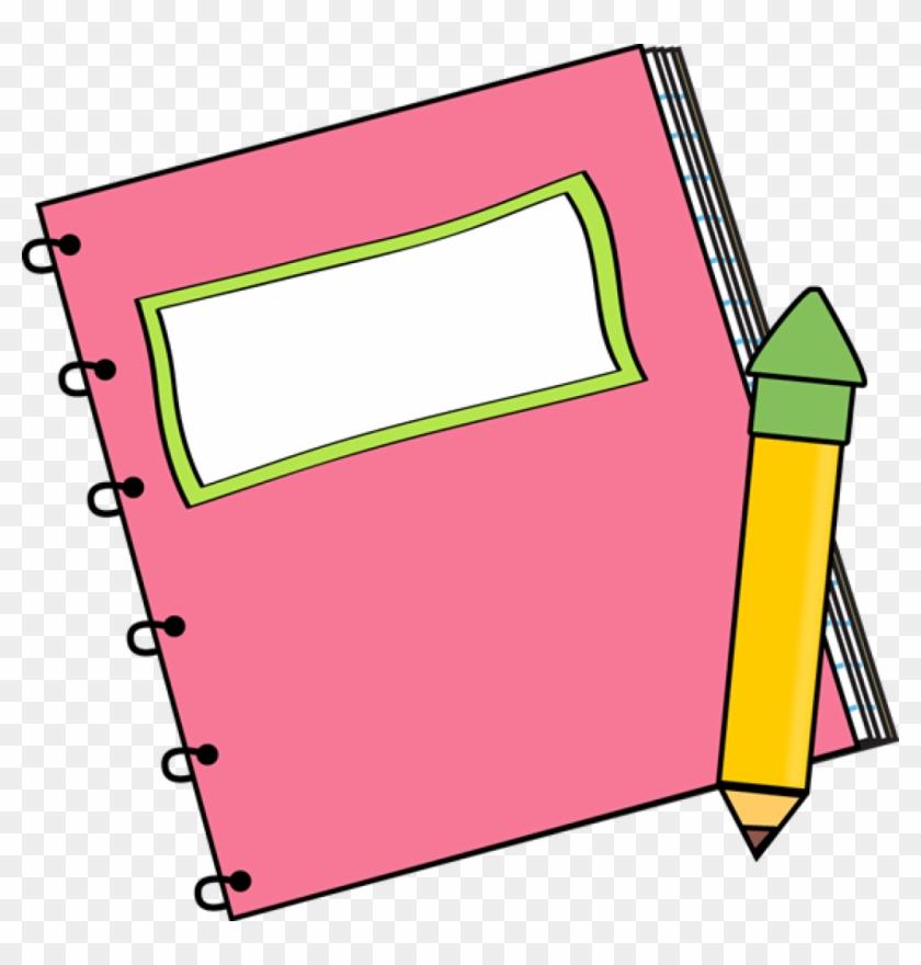 Paper Back School Clipart Pink.