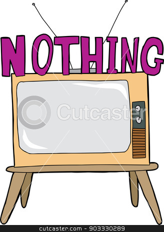 Nothing On TV stock vector.