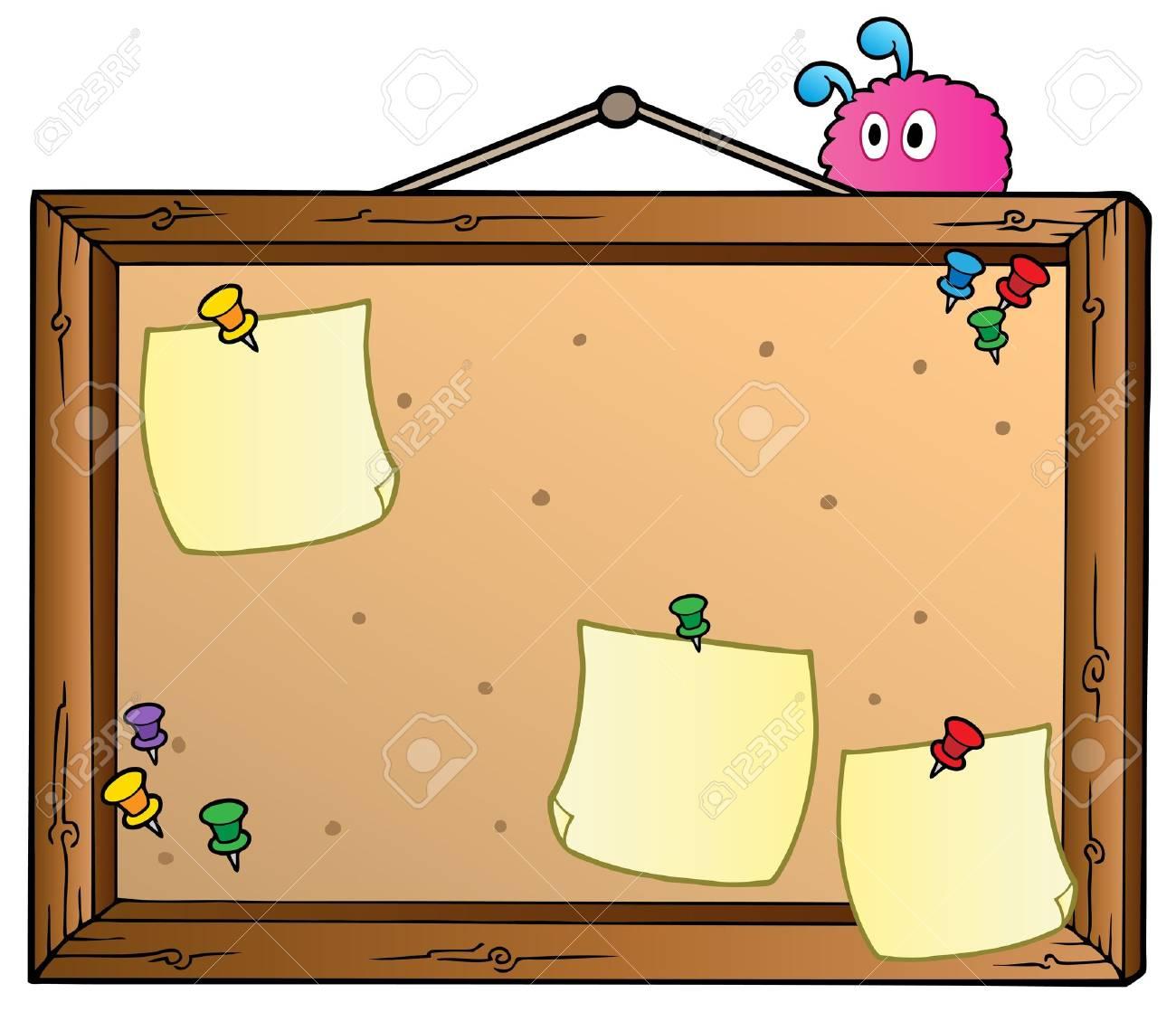 Cartoon bulletin board.