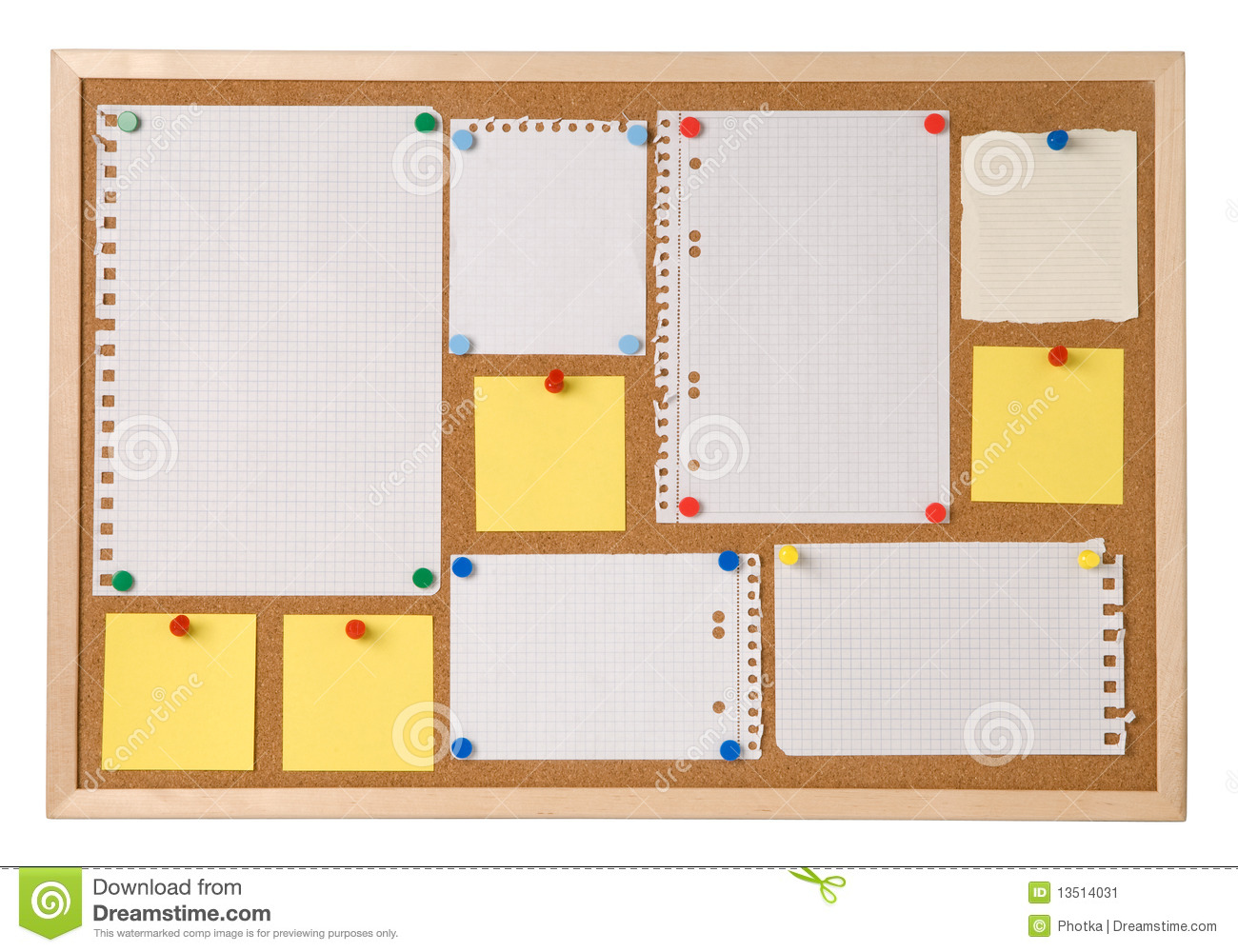 Notice board stock image. Image of space, sheet, board.